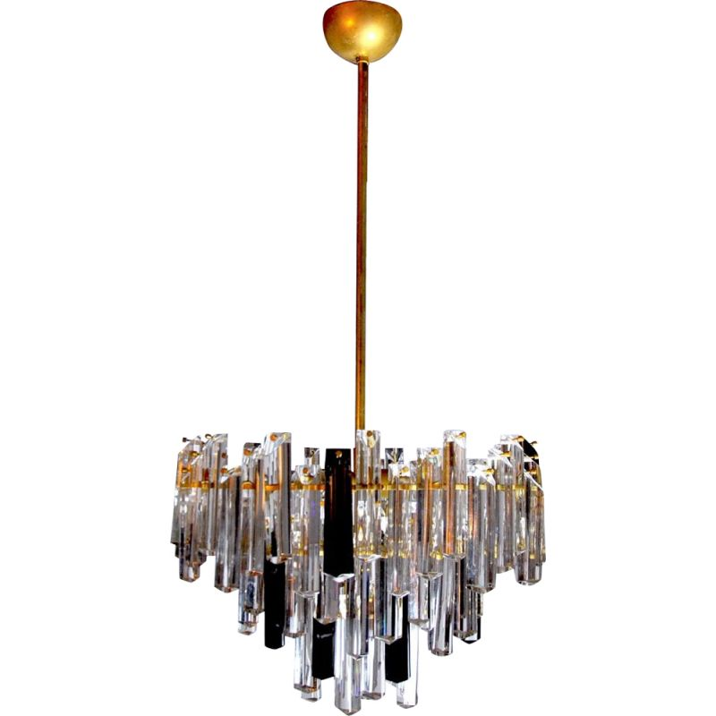 Vintage two-tone Murano glass chandelier by Paolo Venini, Italy 1970s