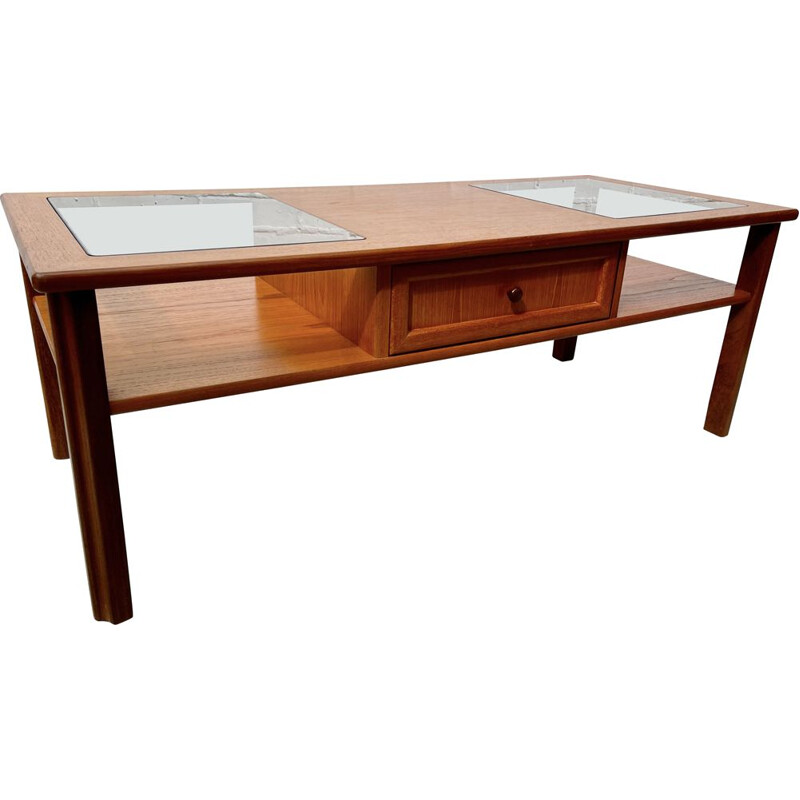 Vintage Teak G Plan Coffee Table with Drawer 1980s