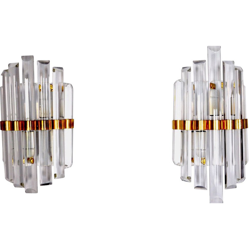 Pair of vintage sconces by Venini, Italy 1970s