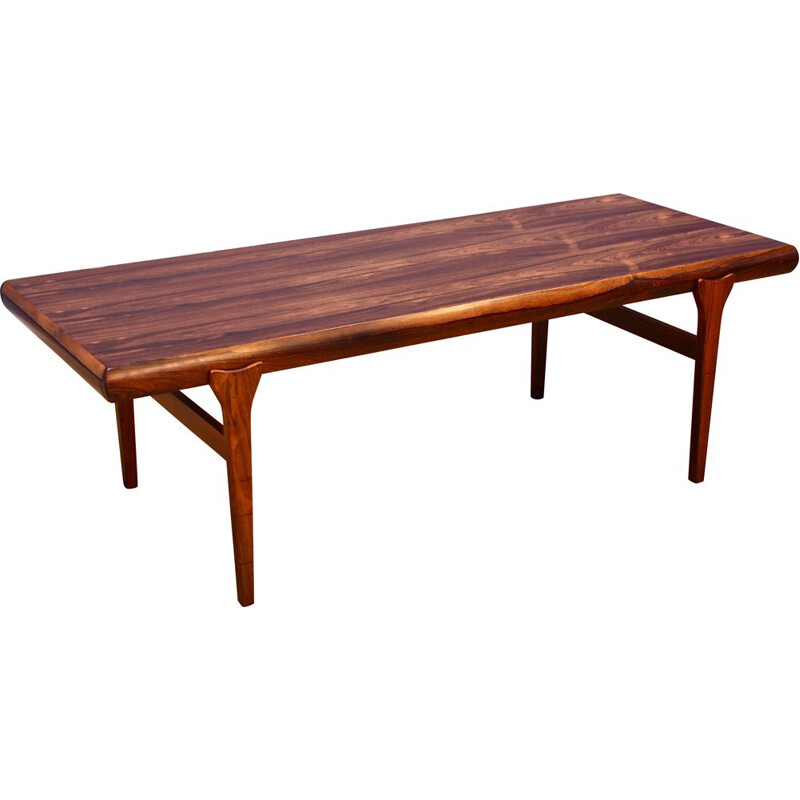 Vintage coffee table in rosewood by Johannes Andersen for Uldum Mobelfabrik, Danish 1960s