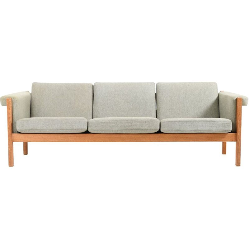 Vintage GE-40 3 Sofa in solid Oak by Hans J. Wegner for Getama