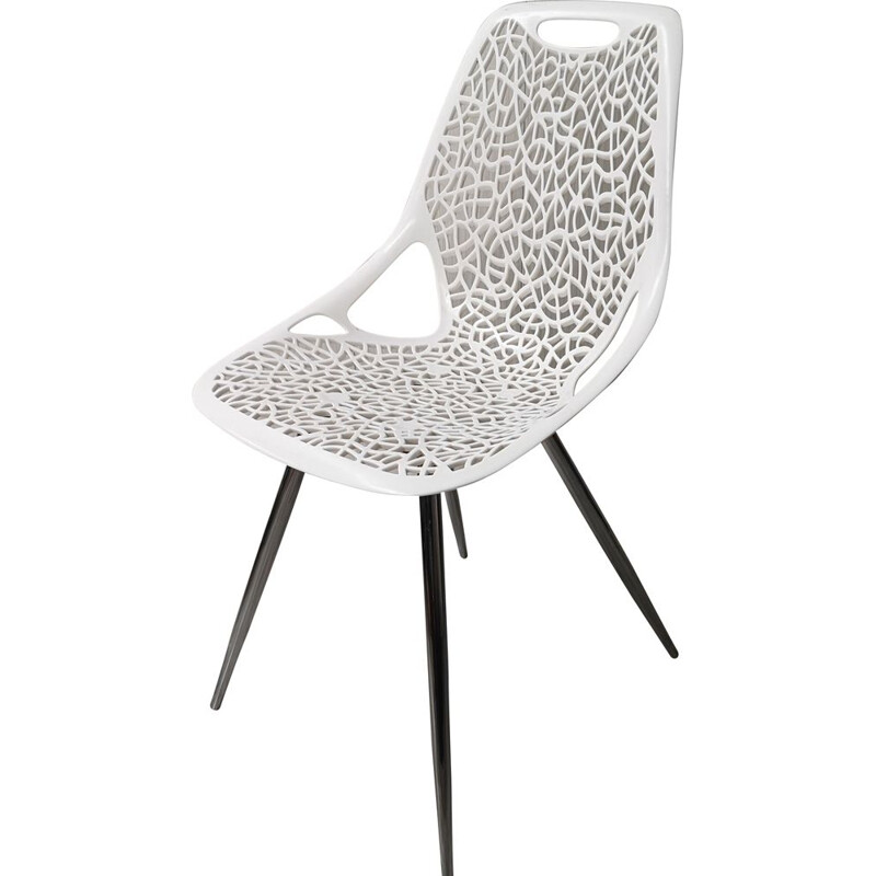 Vintage openwork chair, Scandinavian