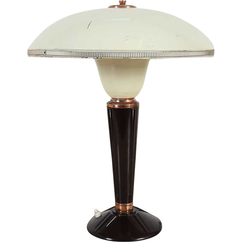 Vintage Eileen Gray table lamp for Jumo, French 1940s