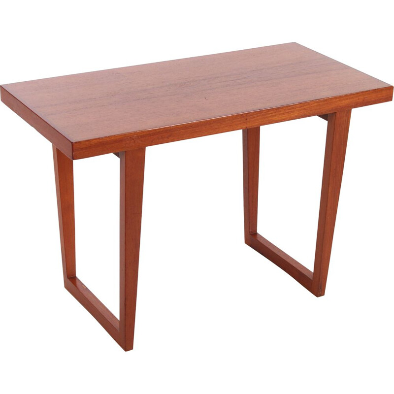 Vintage teak wooden coffee table 1960s
