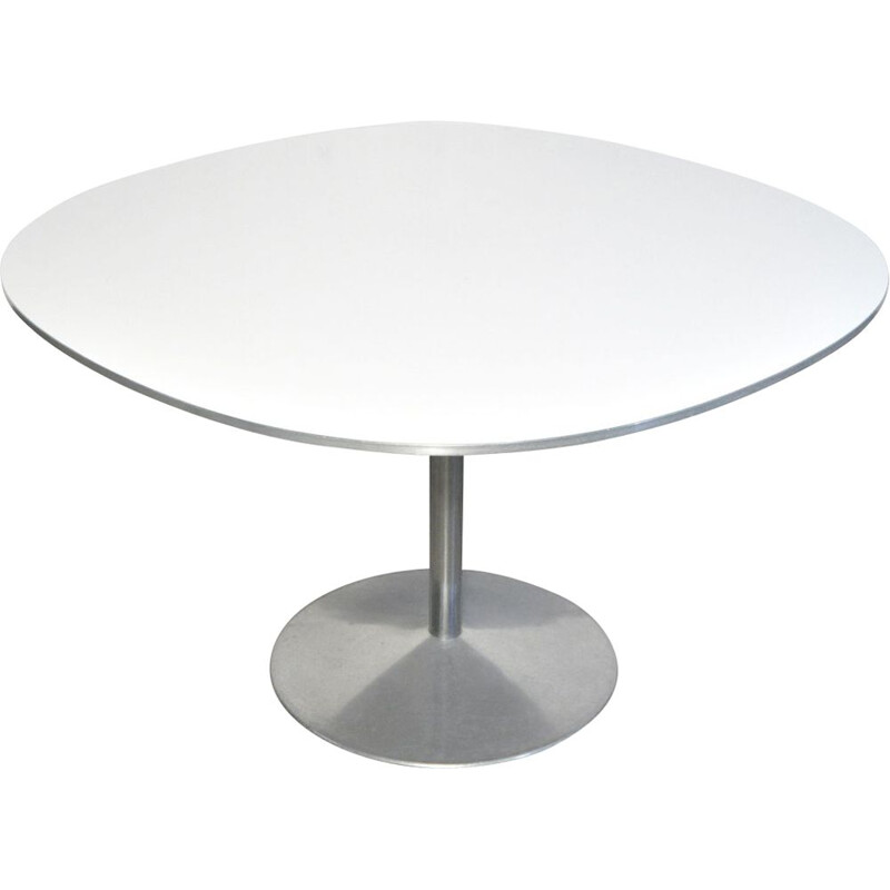 "Vintage Round diningtable ""supercircular"" by Piet Hein & Bruno Mathsson for Fritz Hansen, Denmark 1970s"