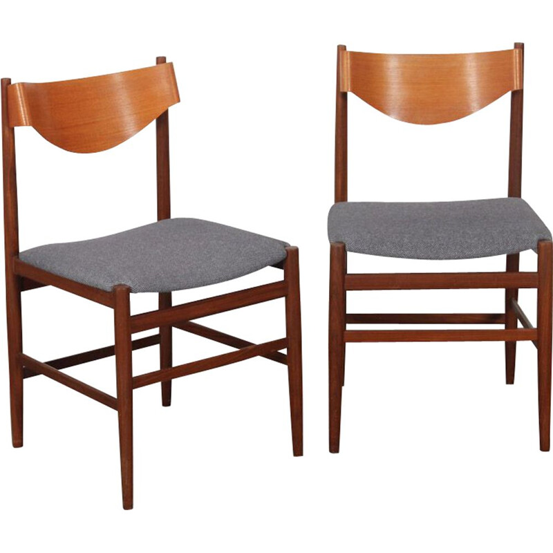 Pair of vintage chairs by Gianfranco Frattini for Cassina, Italy 1960s