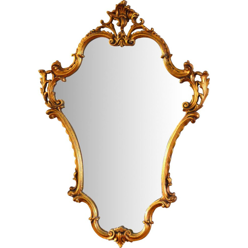 Large vintage baroque mirror 1970s