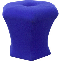 Stool in blue fabric - 1980s