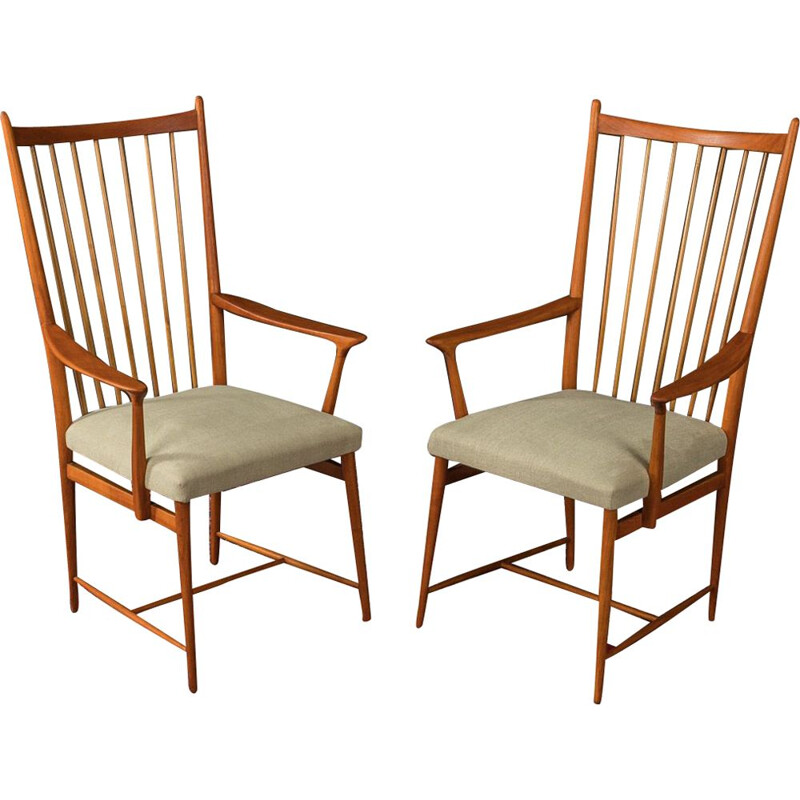 Vintage Armchairs by Josef Hillerbrand, Germany 1950s