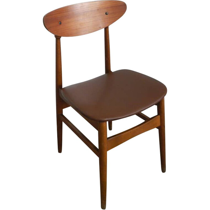 Vintage beech single chair 1960s