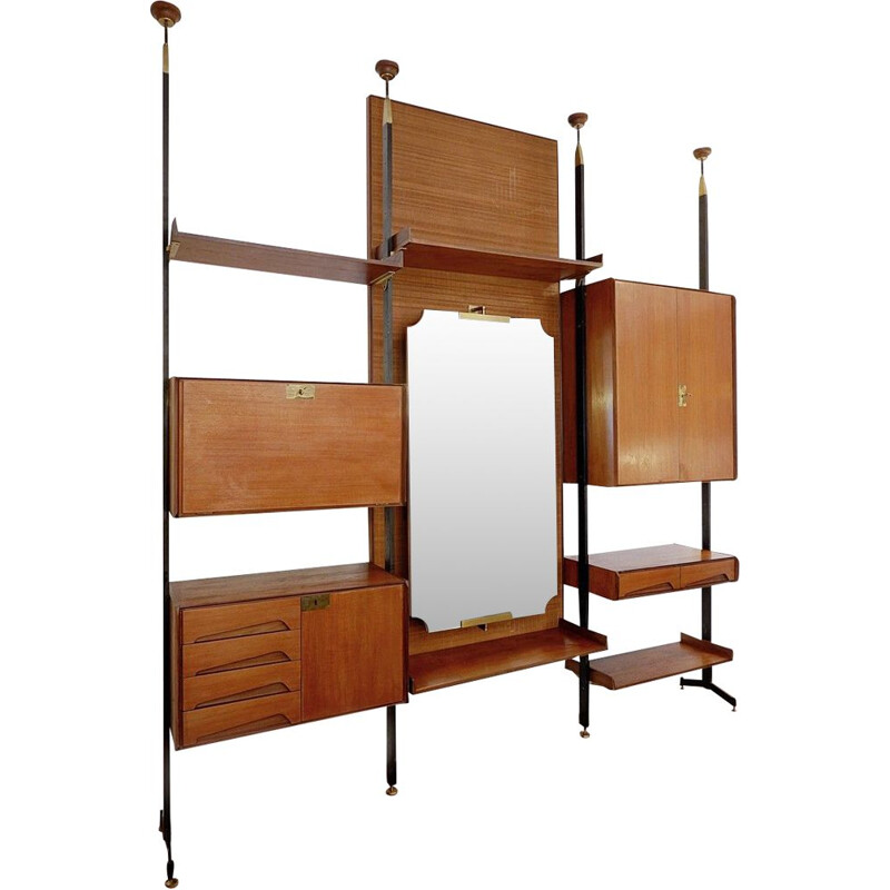 Vintage wall unit by vittorio dassi for dassi, Italian 1950s