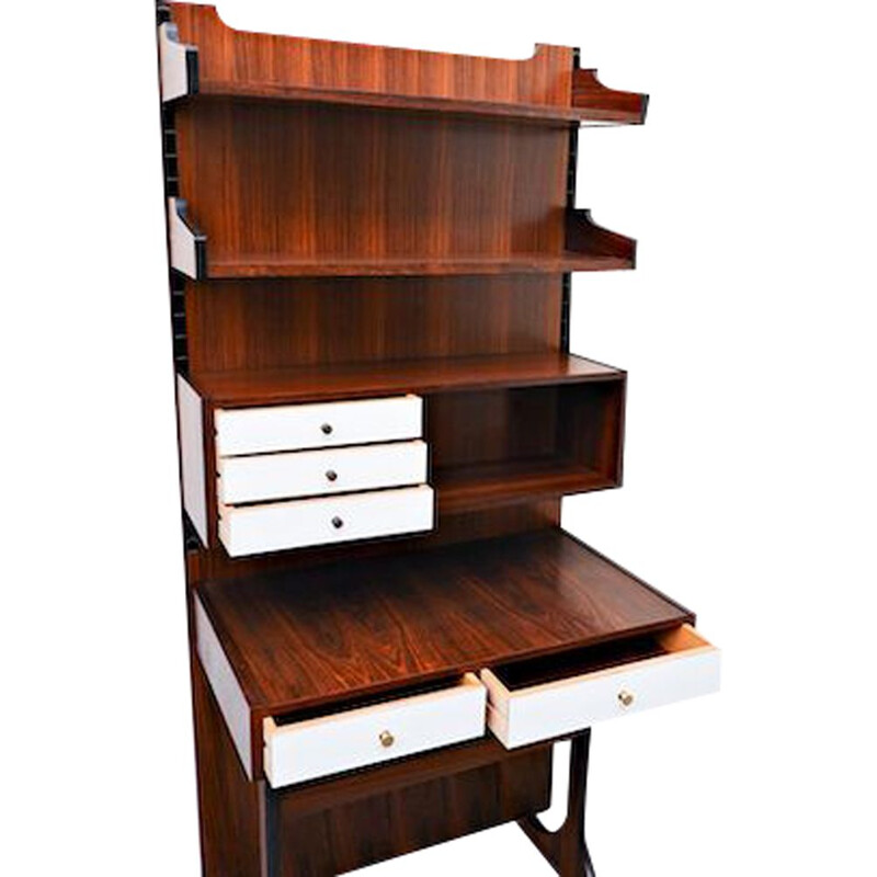 Vintage Wall-unit desk sormani, italy 1960s
