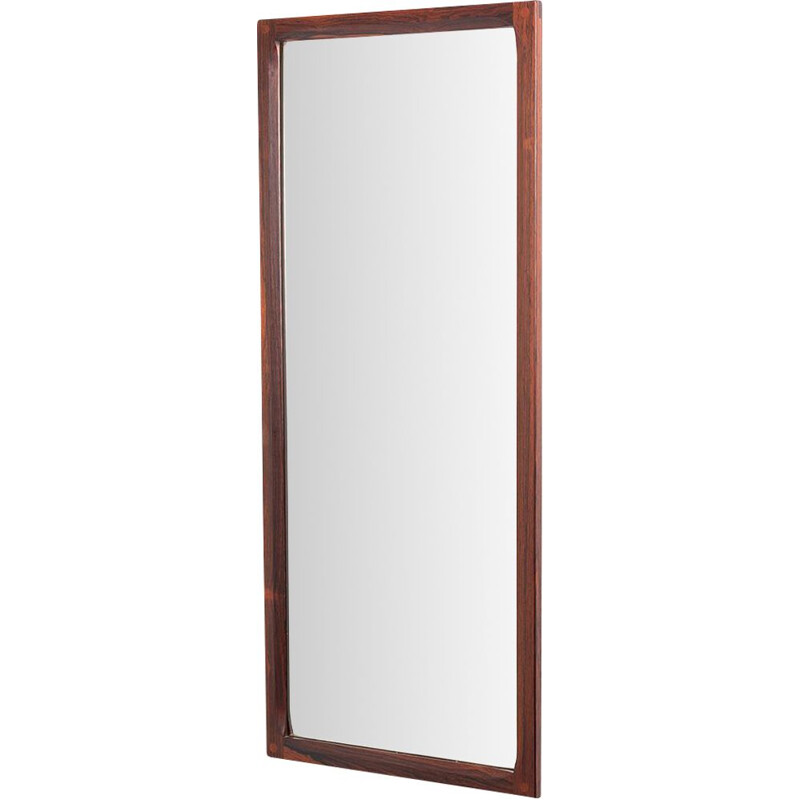 Large vintage rosewood mirror model 165K by Kai Kristiansen for Aksel Kjersgaard, Danish 1960s