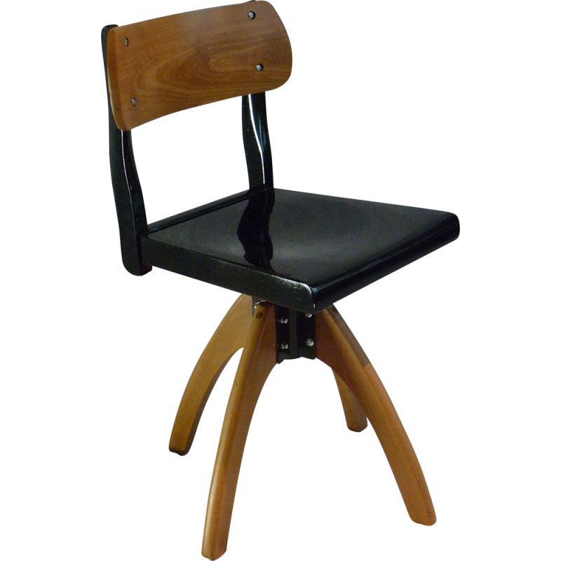 Vintage lacquered workshop chair