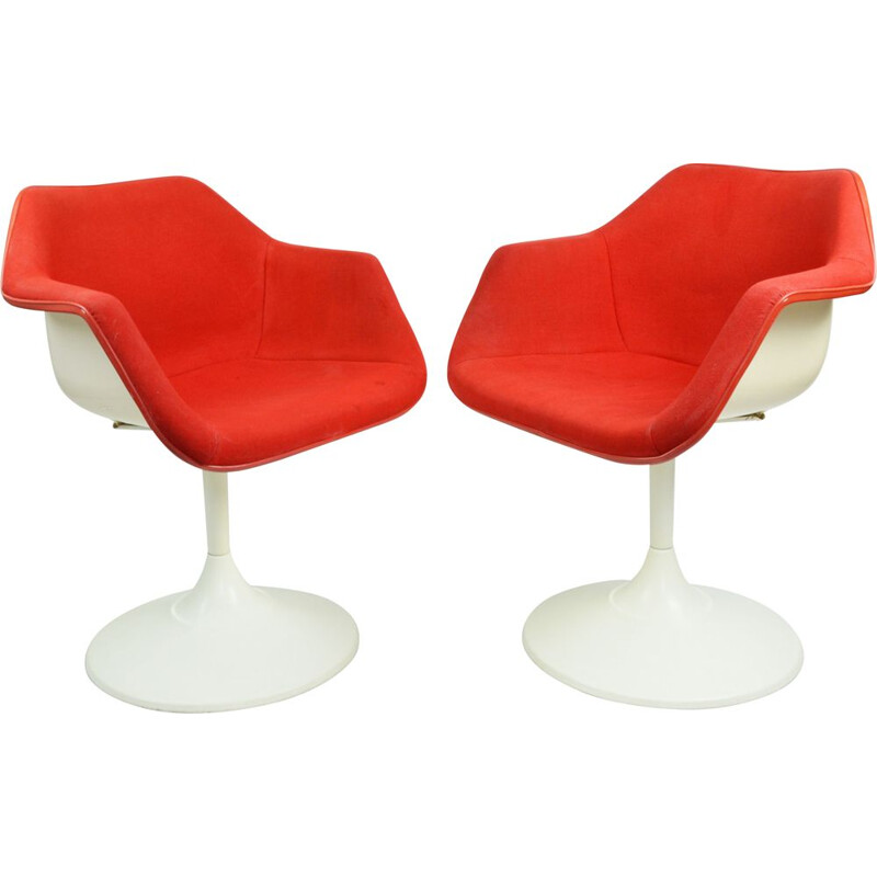 Pair of vintage R. Day chairs for Overman, Sweden 1960s