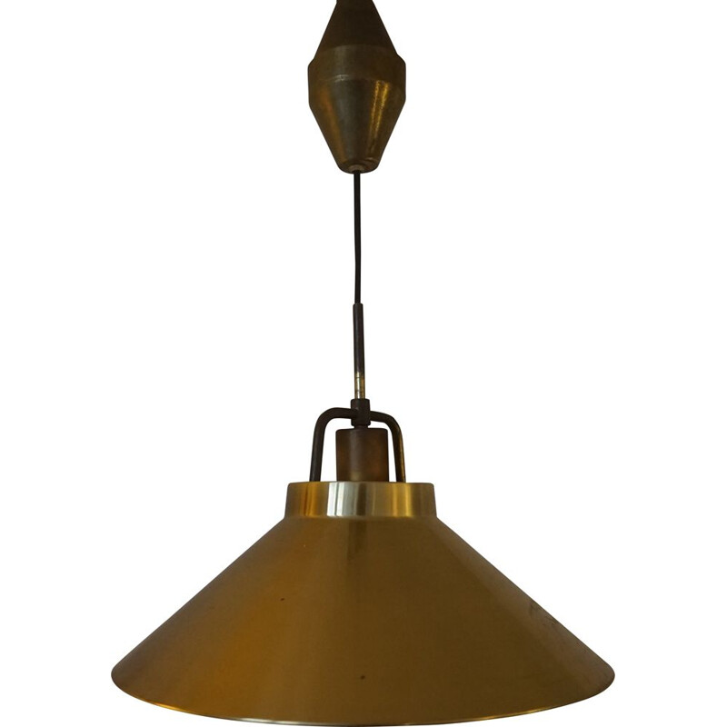 Vintage Adjustable Brass Model P295 Ceiling Lamp by Fritz Schlegel for Lyfa 1940