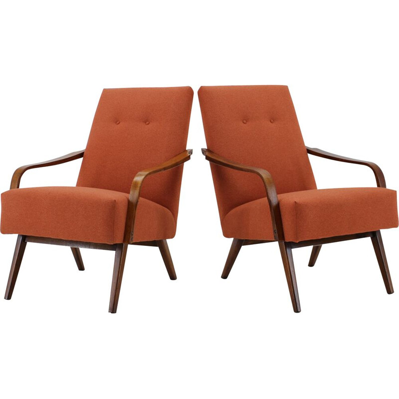 Pair of Vintage Armchairs ,Czechoslovakia 1960s