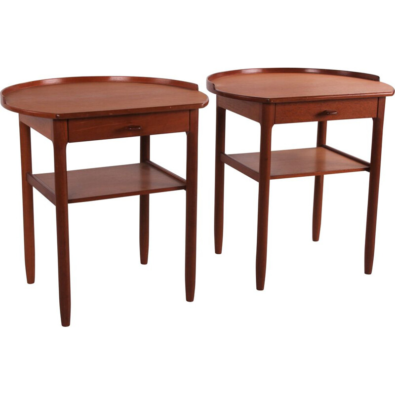 Pair of vintage Roundtop side tables by Engström & Myrstrand for Bodafors, Sweden 1964
