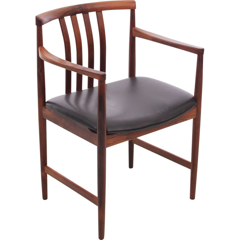 Vintage rosewood office chair from Rio for Westnofa scandinavian