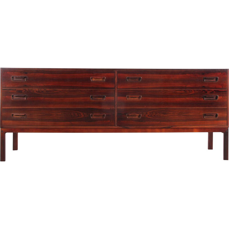 Vintage double chest of drawers in rosewood from Rio Scandinavian