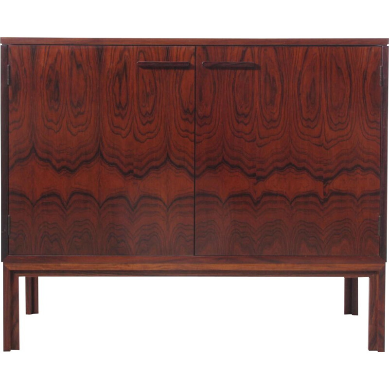 Small vintage Scandinavian HiFi cabinet in Rio rosewood