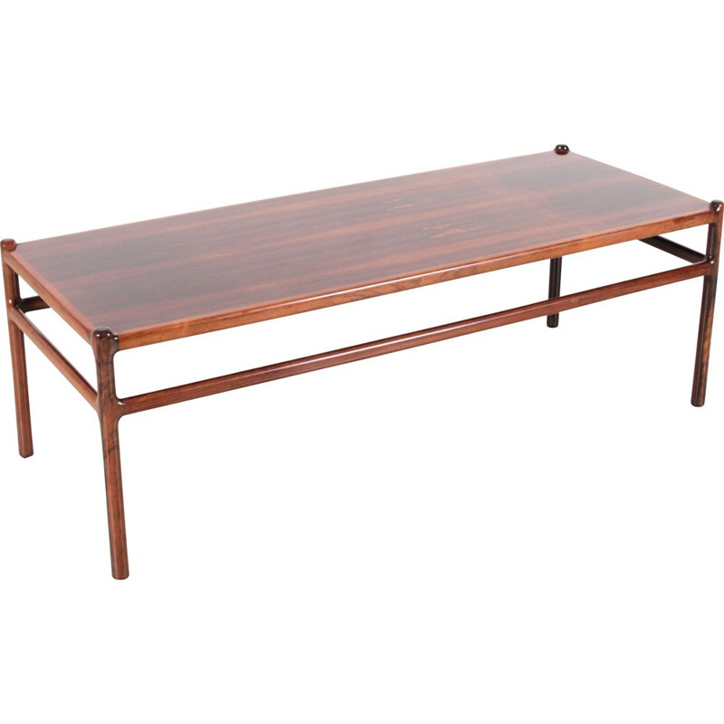Vintage coffee table Scandinavian rosewood Rio