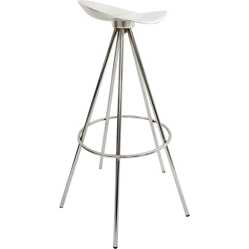 """Vintage Chrome and Aluminum """"Jamaica"""" Stools by Pepe Cortés for Amat-3 1990s"""
