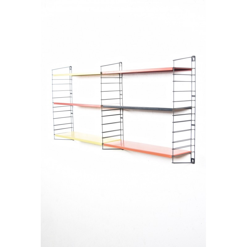 Adjustable Tomado Holland wall shelving system in metal, A  DEKKER - 1950s