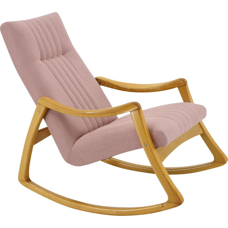 Vintage Rocking Chair by Ton, Czechoslovakia 1960s