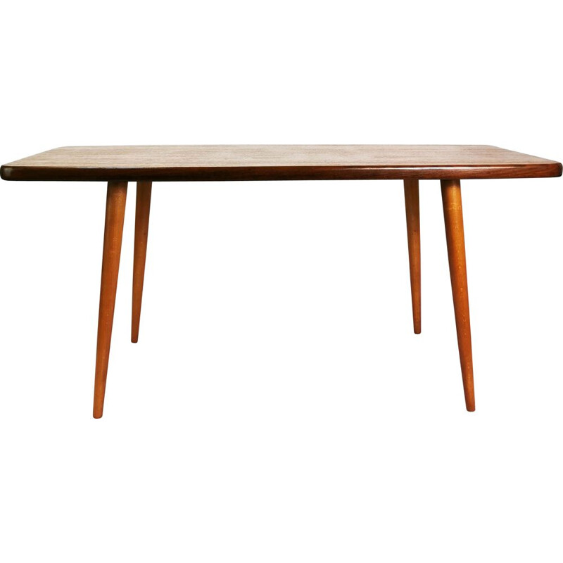 Vintage modernist teak coffee table by Broderna-Miller, Sweden 1960