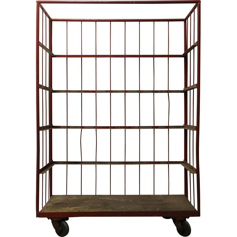 Vintage trolley with shelves 1950