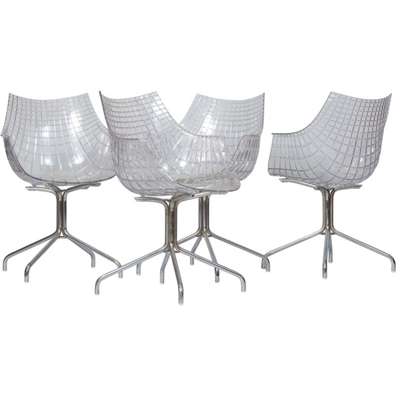 Set of 4 vintage Christophe Pillet Meridiana Chair for Driade