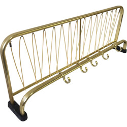 Large coat rack in brass and gold colored metal - 1960s