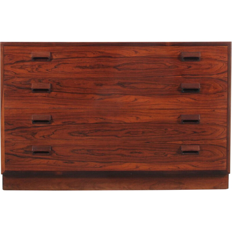 Vintage Rio rosewood chest of drawers by Borge Mogensen for Soborg, Scandinavian
