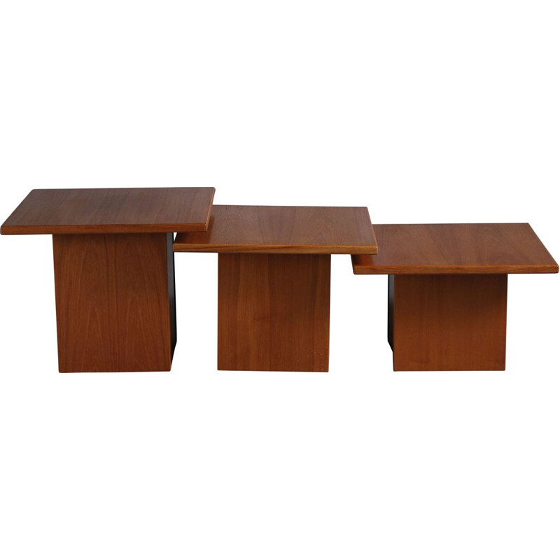 Set of 3 vintage tables nesting tables by Gangso, Danish 1970s