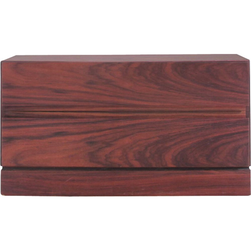 Small vintage chest of drawers in Rio rosewood, Scandinavian