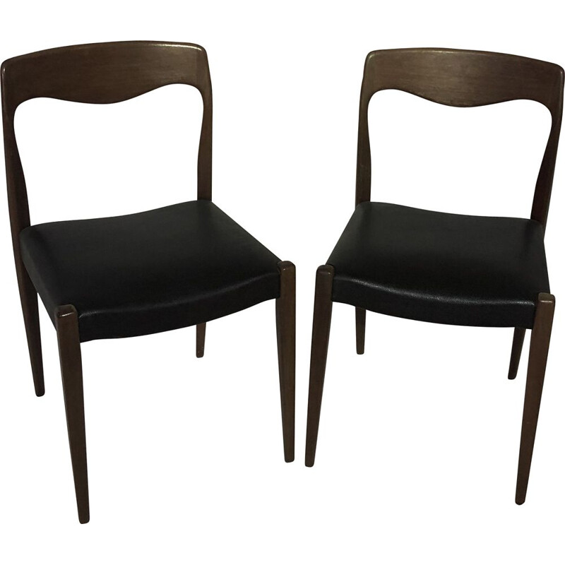Pair of vintage rosewood chairs by Niels Otto Moller