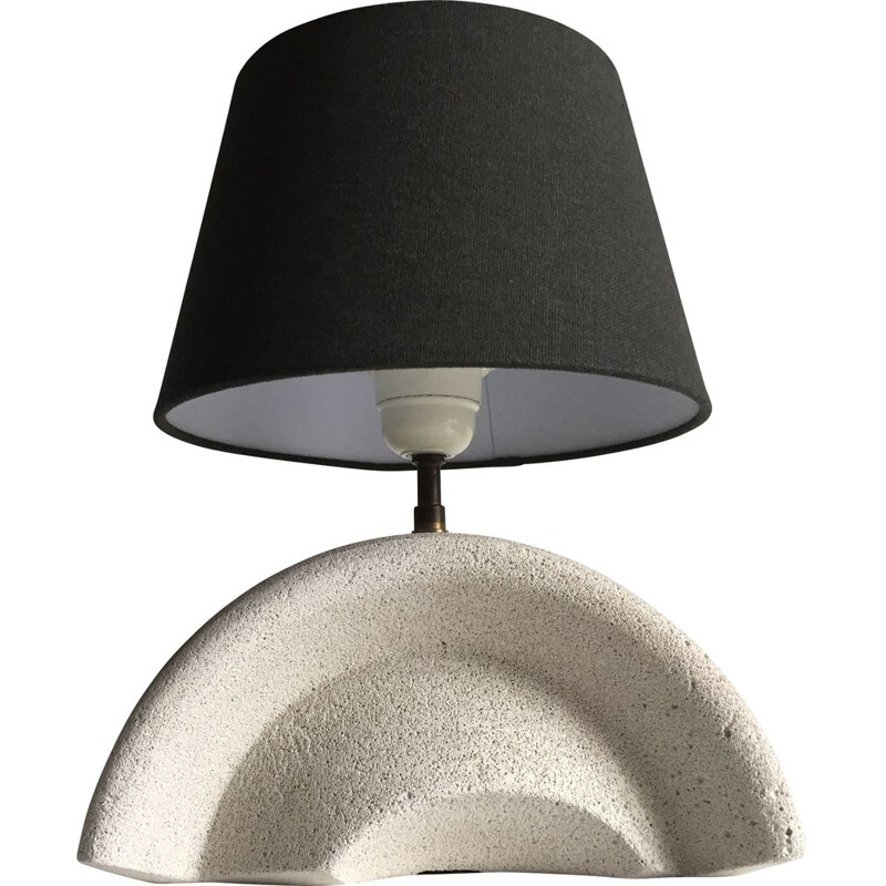 Vintage lamp in cellular concrete 1980