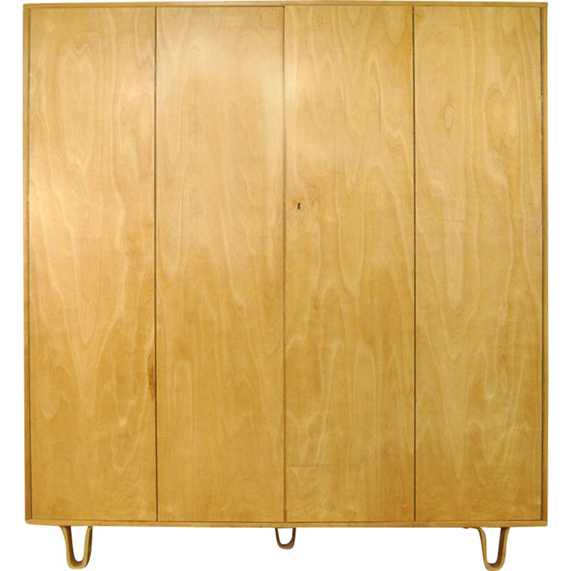 Vintage KB04 Birch Combex wardrobe by Cees Braakman for Pastoe 1960