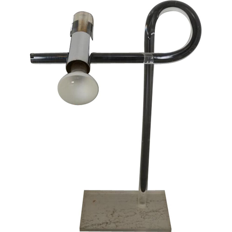 Vintage Crylicord lamp by Peter Hamburger Knoll edition 1970