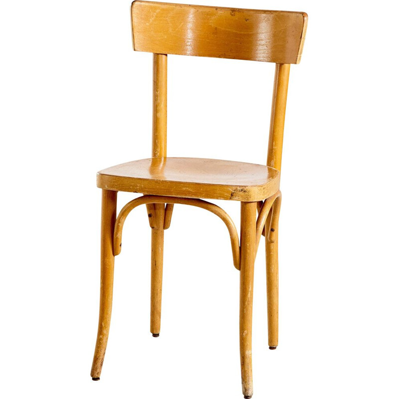 Vintage beechwood side chair from Gebrüder Thonet Vienna GmbH 1950