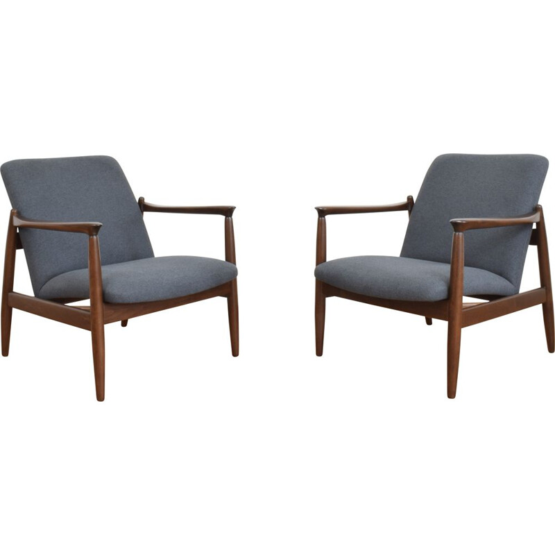 Pair of vintage armchairs by Edmund Homa, Poland 1960
