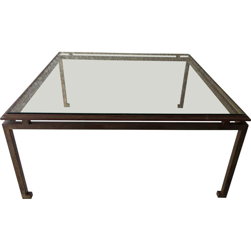 Vintage Maison Ramsay glass coffee table 1950s