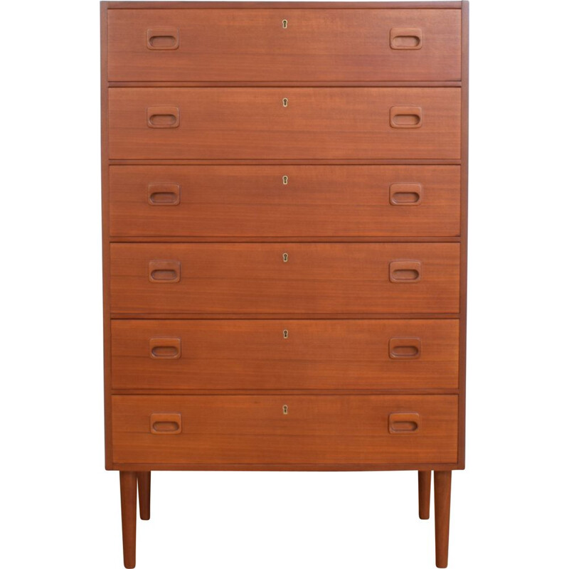 Vintage Teak Chest of Drawers, Swedish 1960s