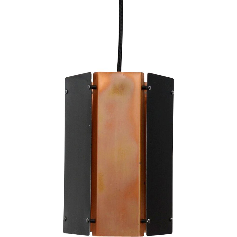 Vintage pendant lamp In Copper, Danish 1960s