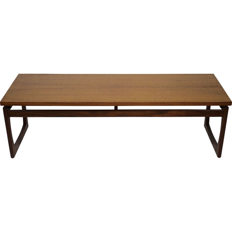 Vintage Rectangular Quadrille Long Teak Side Table by G-Plan 1960s