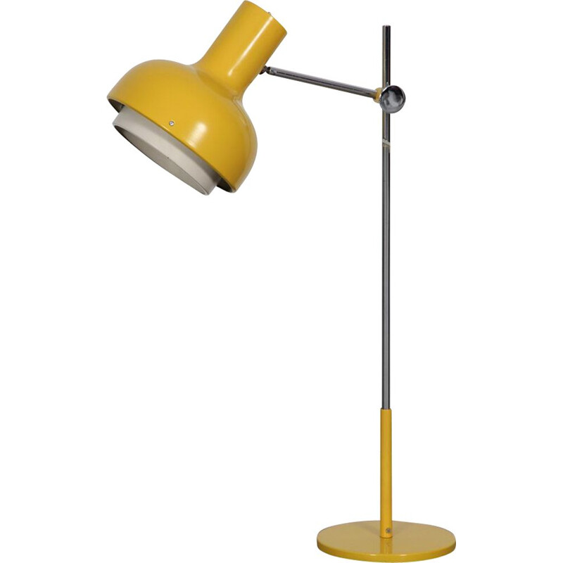 Large vintage yellow lamp by Josef Hurka, Czech Republic 1970s