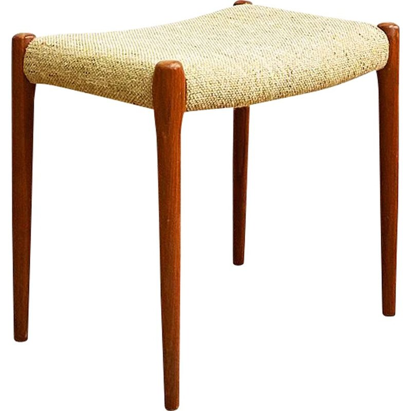 Vintage teak stool model 80A by Niels Otto Moller for J.L. Mollers, Danish 1960s