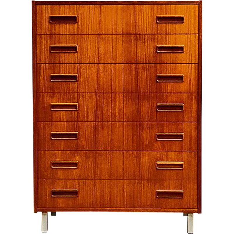 Vintage Teak Chest of Drawers, Danish 1950s