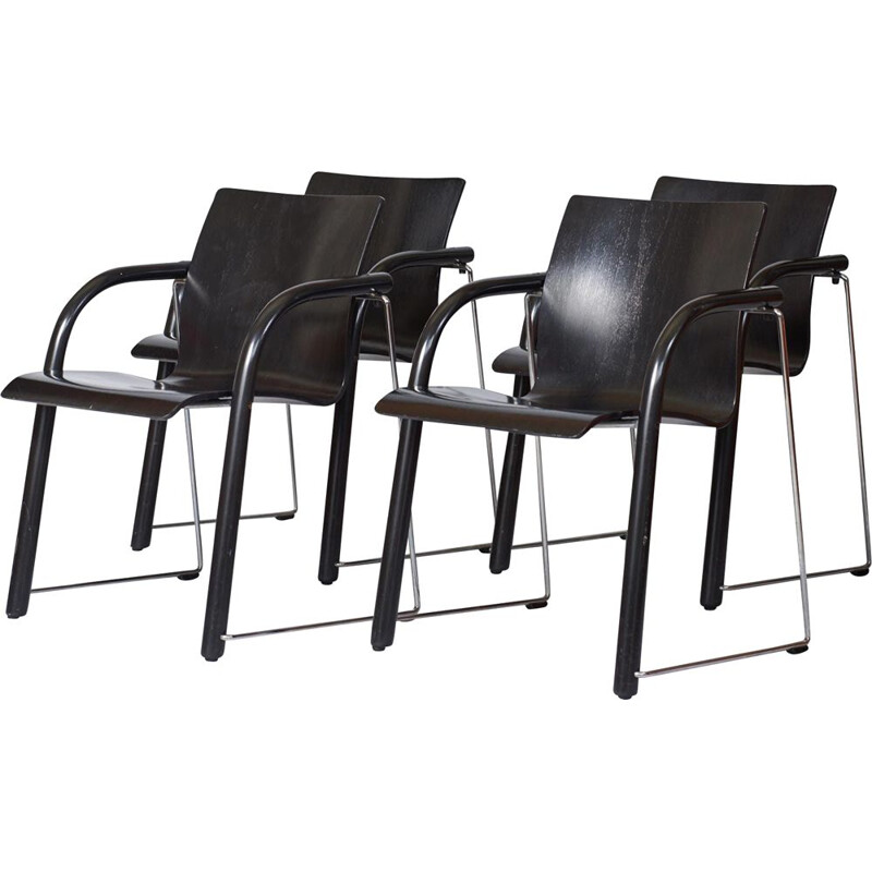 Set of vintage Thonet S320 Dining Chairs